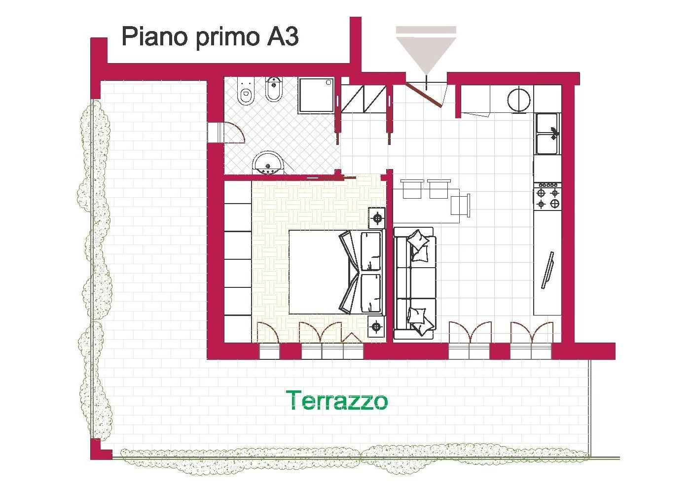 Progetto casa 40 mq come arredare un monolocale di 40 mq in stile shabby chic progetti di for Arredare casa di 40 mq